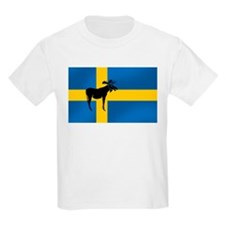 Swedens Elk / Moose Flag Kids T-Shirt