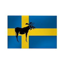 Swedens Elk / Moose Flag Rectangle Magnet