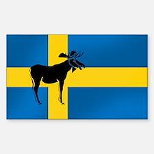 Swedens Elk / Moose Flag Rectangle Stickers