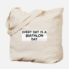 Biathlon day Tote Bag