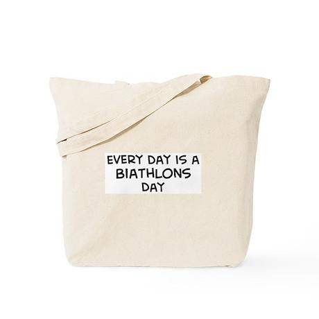 Biathlons day Tote Bag