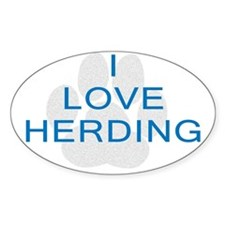 Herding Oval Decal