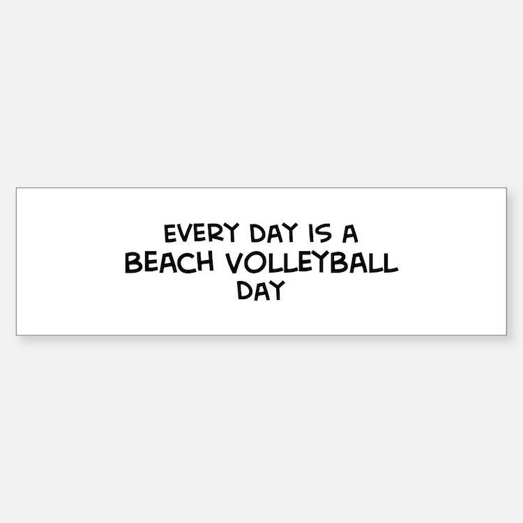 Beach Volleyball day Bumper Bumper Bumper Sticker