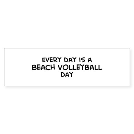 Beach Volleyball day Bumper Sticker