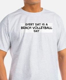 Beach Volleyball day Ash Grey T-Shirt