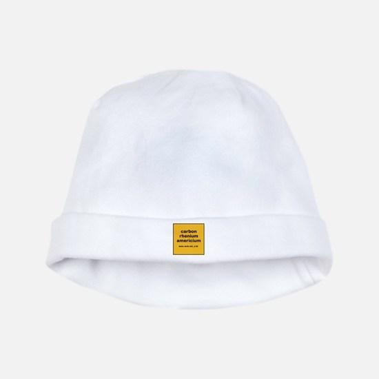 cream chem baby hat