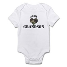Grandson: Camo Heart Infant Bodysuit