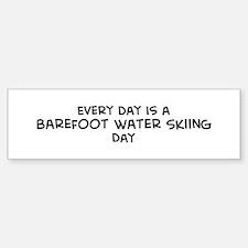Barefoot Water Skiing day Bumper Bumper Bumper Sticker