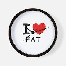 I love fat Wall Clock