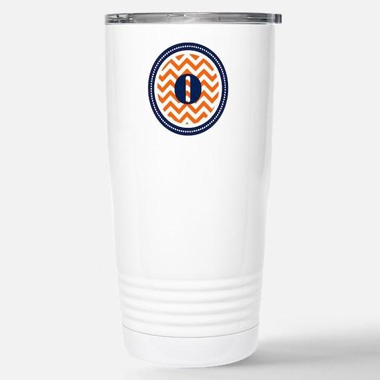Orange & Navy Stainless Steel Travel Mug