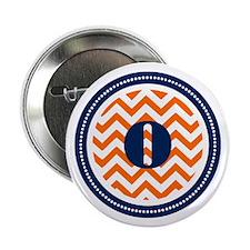 """Orange & Navy 2.25"""" Button"""