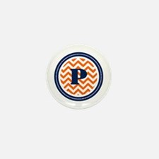 Orange & Navy Mini Button