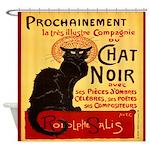 Le Chat Noir 3 Shower Curtain