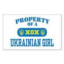 Property of a Ukrainian Girl Rectangle Decal