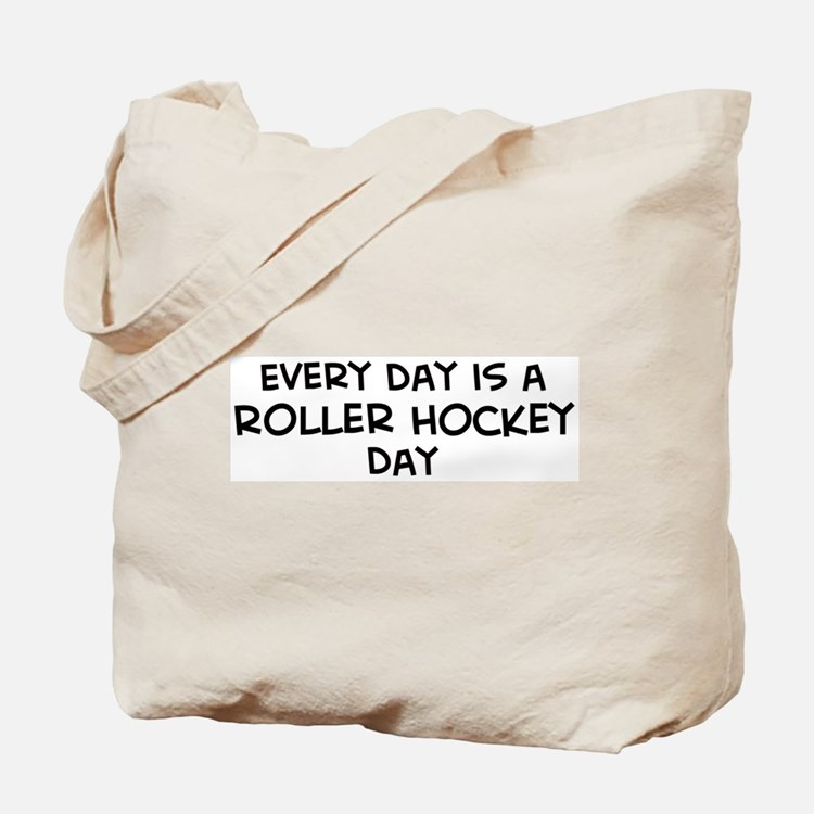 Roller Hockey day Tote Bag