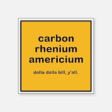 cream chem square sticker
