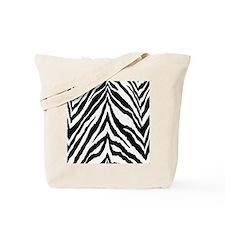 Zebra Skin Vertical Tote Bag