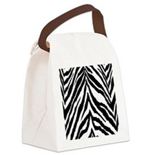 Zebra Skin Vertical Canvas Lunch Bag