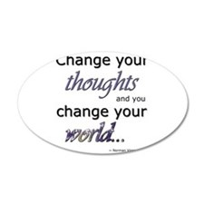 Cute Change the world Wall Decal