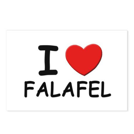 I love falafel Postcards (Package of 8)