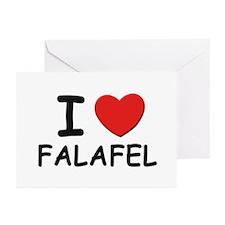 I love falafel Greeting Cards (Pk of 10)