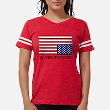 Upside Down Flag Distress Womens Football Shirt