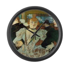 La Goulue Large Wall Clock