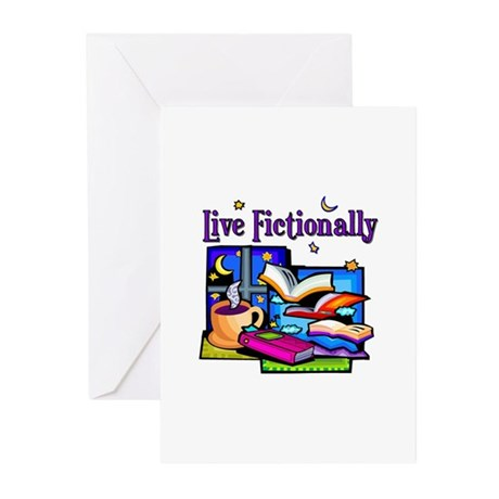 Live Fictionally Greeting Cards (Pk of 10)