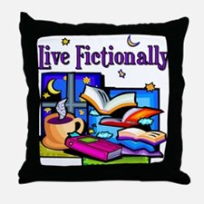 Live Fictionally Throw Pillow