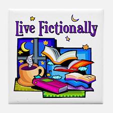 Live Fictionally Tile Coaster