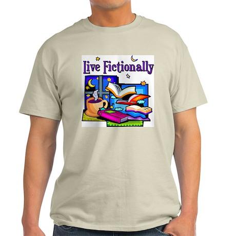 Live Fictionally Ash Grey T-Shirt