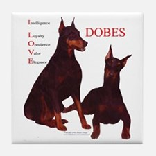 Love Dobes Tile Coaster