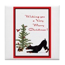 Dobe Christmas Tile Coaster