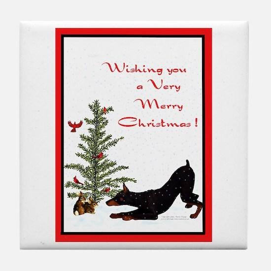 Dobe Christmas Tile Coaster