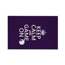 Keep Calm and Game On Rectangle Magnet