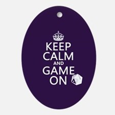 Keep Calm and Game On Ornament (Oval)