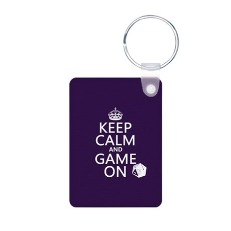 Keep Calm and Game On Keychains