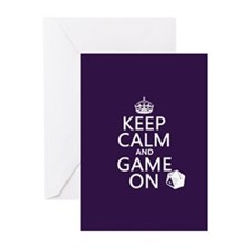 Keep Calm and Game On Greeting Cards (Pk of 20)