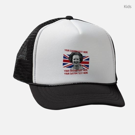 CUSTOM TEXT Thatcher UK Kids Trucker hat