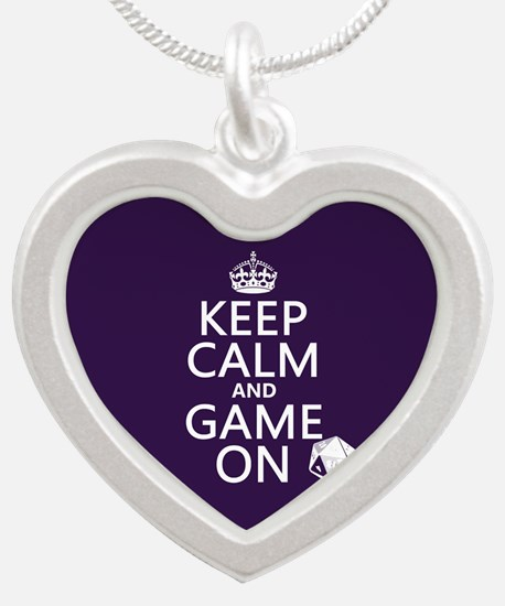 Keep Calm and Game On Necklaces