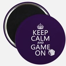 """Keep Calm and Game On 2.25"""" Magnet (10 pack)"""