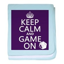 Keep Calm and Game On baby blanket