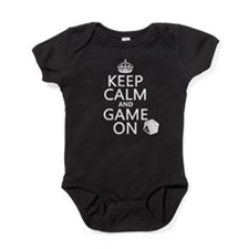 Keep Calm and Game On Baby Bodysuit