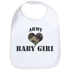 Baby Girl: Camo Heart Bib