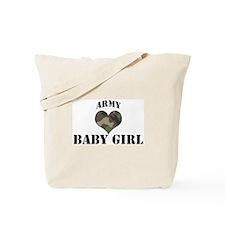Baby Girl: Camo Heart Tote Bag