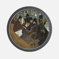 Lautrec at Moulin Rouge Wall Clock