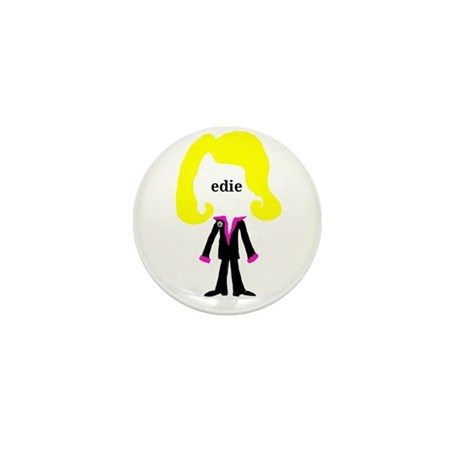 Edie with Pin Mini Button (10 pack)