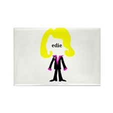 Edie with Pin Rectangle Magnet