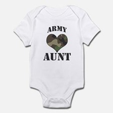 Aunt: Camo Heart Infant Bodysuit