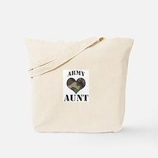 Aunt: Camo Heart Tote Bag